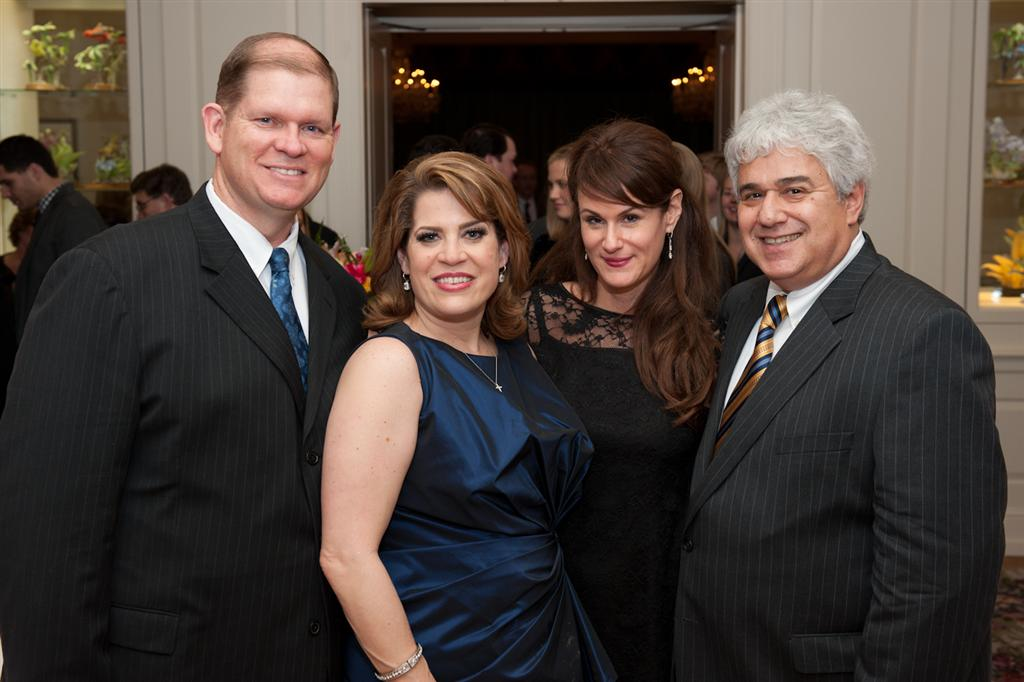 dream out loud bill and stephanie swingle with the rivers founders bob and cathy binstock India House Gala & TUTS Dream Out Loud
