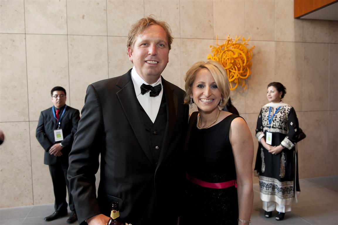 cody sutton and asia society texas center executive director martha blackwelder photo by gf Tiger Ball Draws Large Audience Raising $1.4 Million
