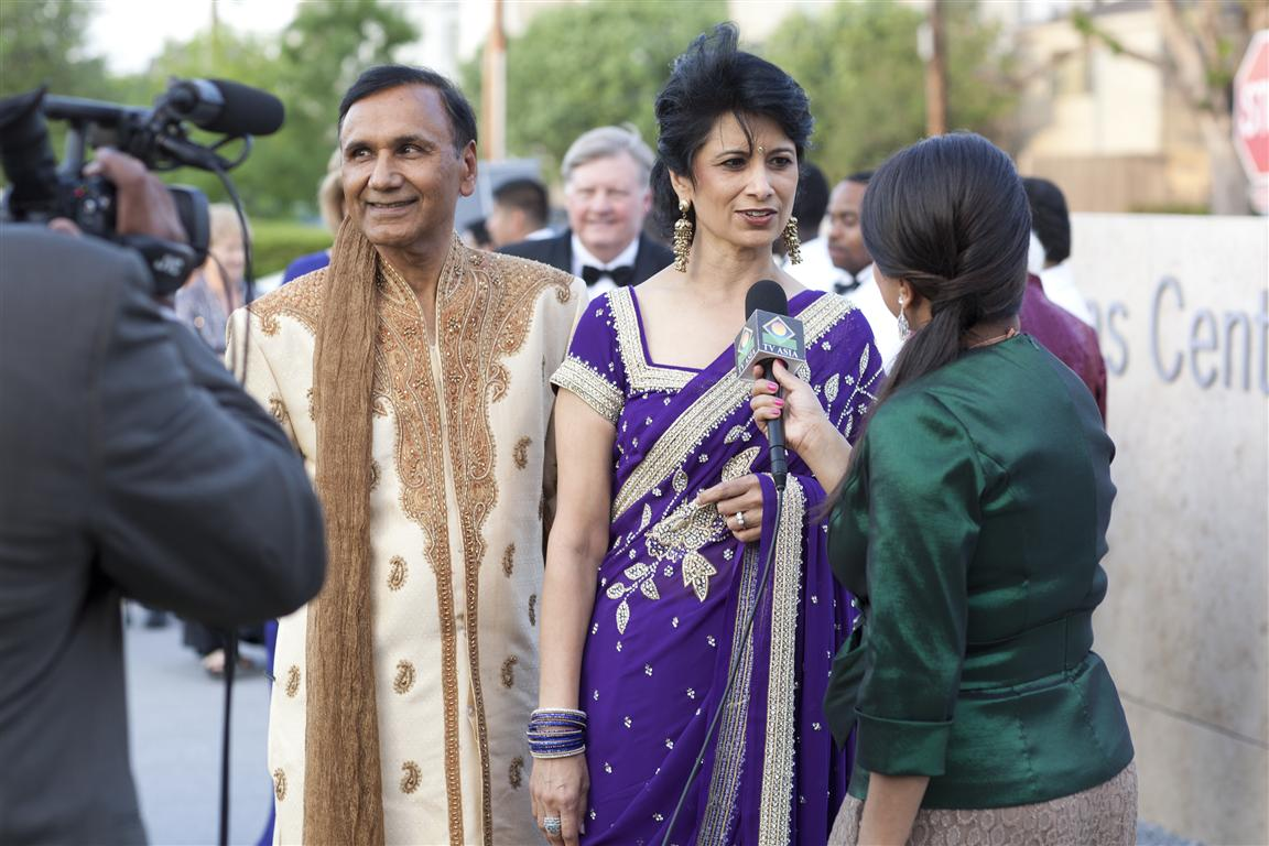 dr suresh khator and dr renu khator photo by gf Tiger Ball Draws Large Audience Raising $1.4 Million