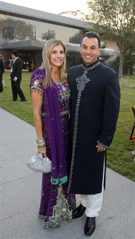 gina and dr devinder bhatia photo by gf Tiger Ball Draws Large Audience Raising $1.4 Million