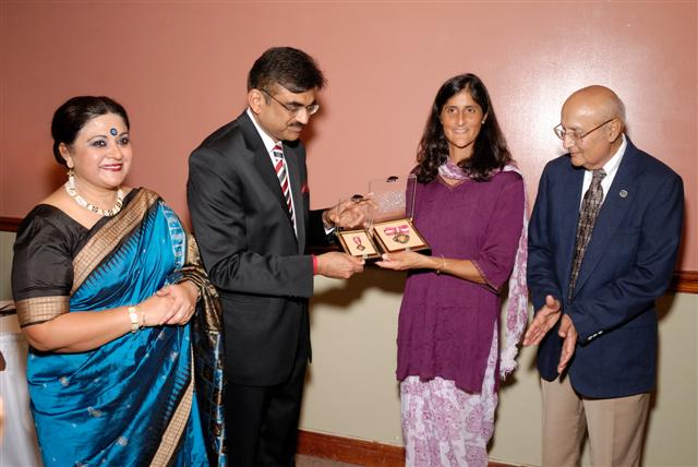 Sunita Williams receiving Padma Bhushan