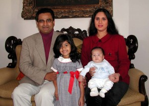 Meenakshi Sheshadri and family