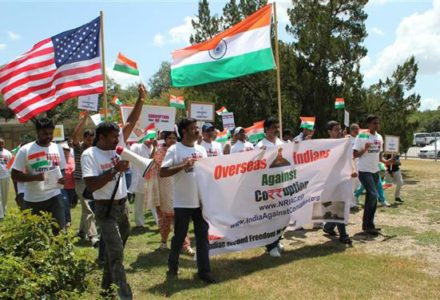 Indians in Houston Support Anti-Corruption Protests in India