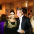 Nidhika Mehta and George Clooney