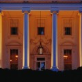 North Portico of the White House at Night