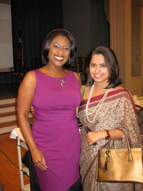 ABC 13 Morning Anchor Sharron Melton with Lights Camera Action Editor Ruchi Mukherjee The Partnership For Baylor College of Medicine   A Luncheon