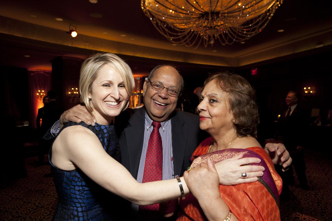 Martha Blackwelder with Nat and Leela Krishnamurthy
