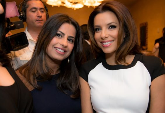 With Eva Logoria - Photo by Sonya Abid