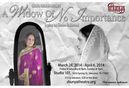 Shunya Theatre presents – A Widow of No Importance – by Shane Sakhrani