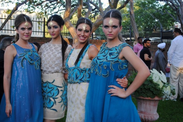 Models wearing Rammy designs