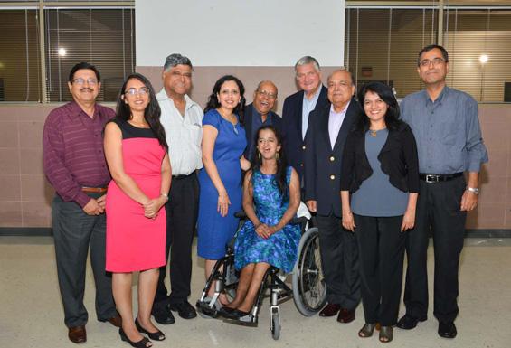 Rakesh Joshi, Lakshmi Murthy, Pradeep Gupta, Asha Dhume, Nat Krishnamaurthy, Gibson Duterroil, Ashok Garg, Manisha Mehta, Prakash Roopani with guest speaker Sandhya Rao
