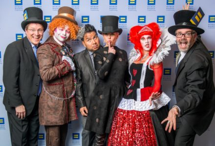 White Rabbit, Queen of Hearts and Plenty of Mad Hatters Kick-off the Human Rights Campaign