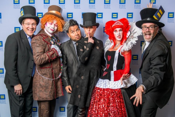 Matt Burrus-Pearce, The Mad Hatter, Sergio Morales, Vivian Wise, The Queen of Hearts and Michael Burrus-Pearce