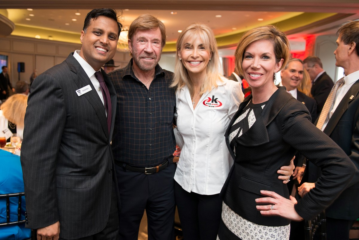Dr. Aashish Shah, Chuck and Gena Norris and Roseann Rogers