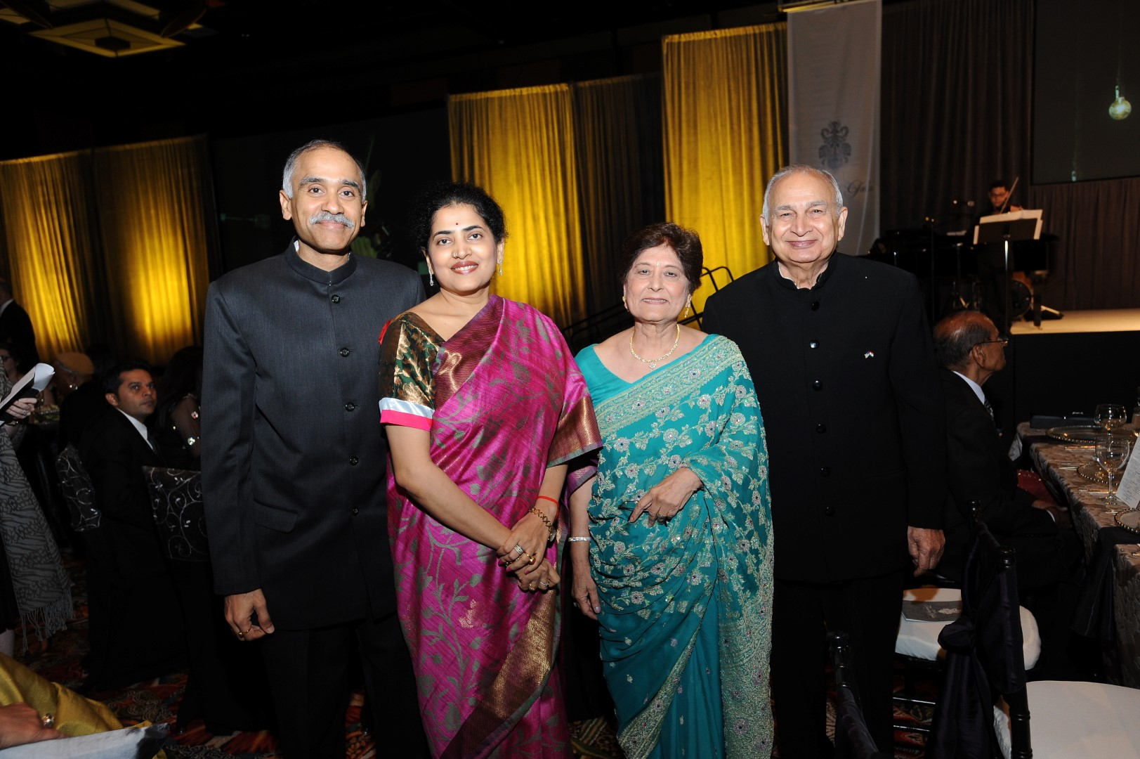 Consul General of India Parvathaneni Harish, Srimathi Nandita,  Sushma Mahajan and Devinder Mahajan