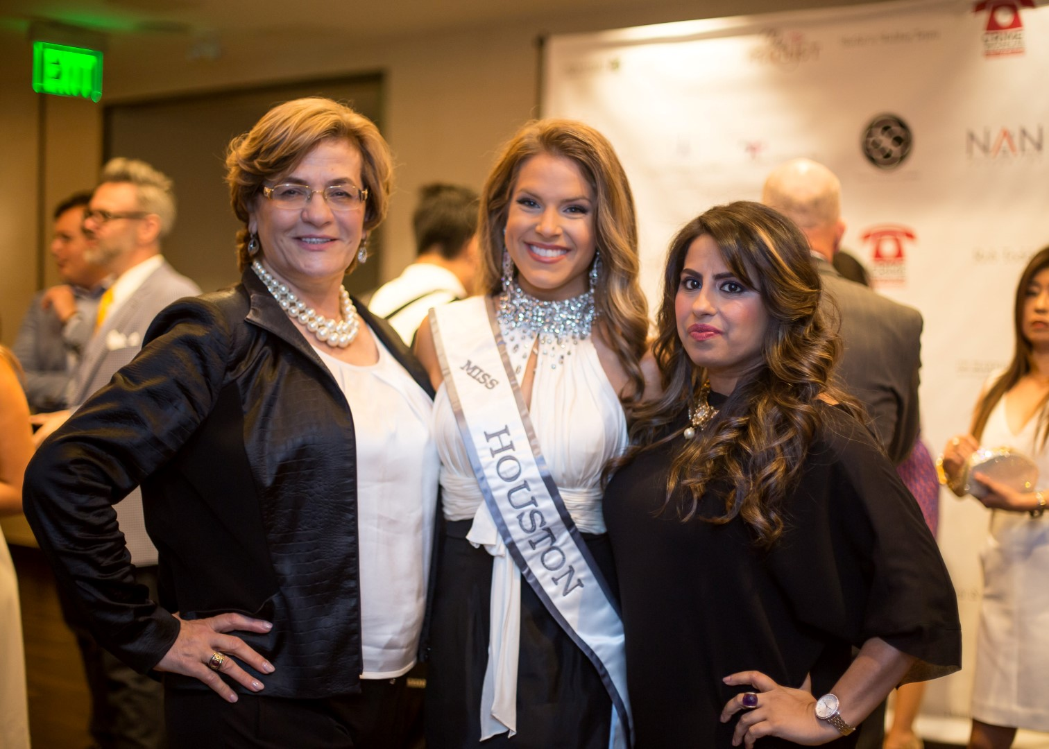 Sue Habib, Miss Houston 2015 Thamer Kay Favor, Ruchi Mukherjee