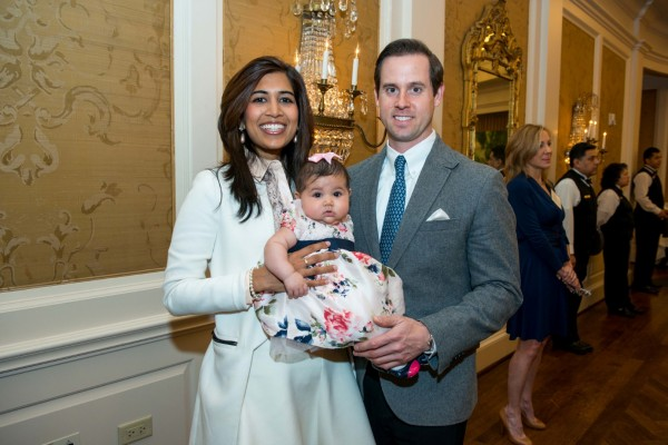 Divya Brown, Milana Brown, Chris Brown at Houston Symphony Children's Fashion Show and Luncheon at River Oaks Country Club