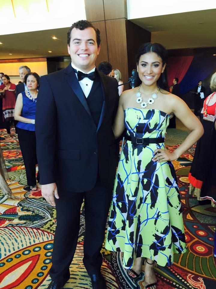 William with Miss America 2014 Nina Davuluri