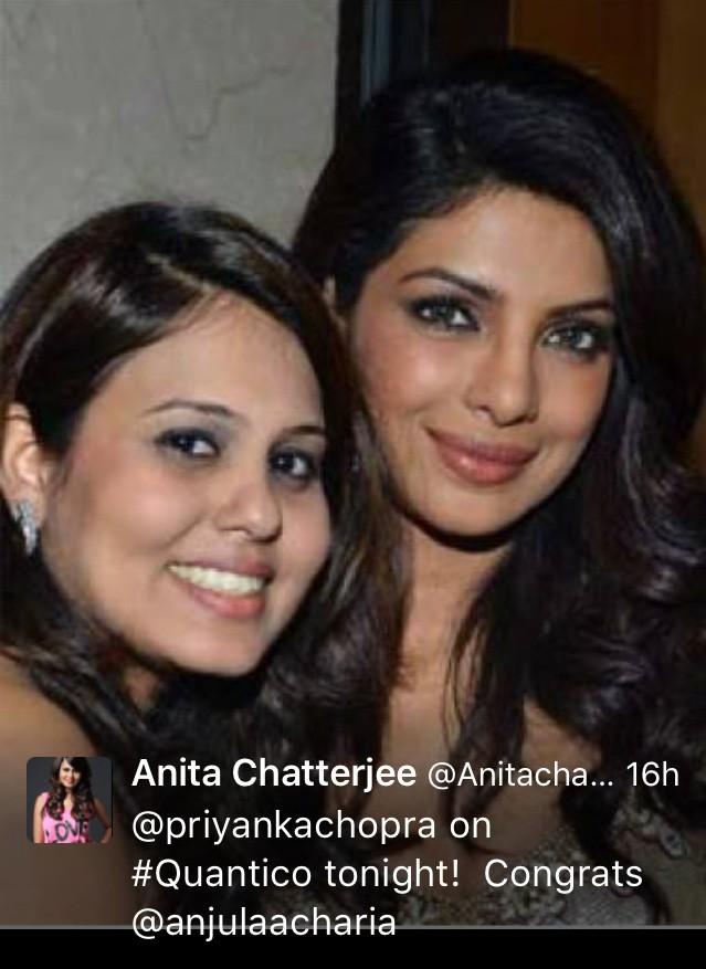 Publicist Anita Chatterjee with Priyanka Chopra