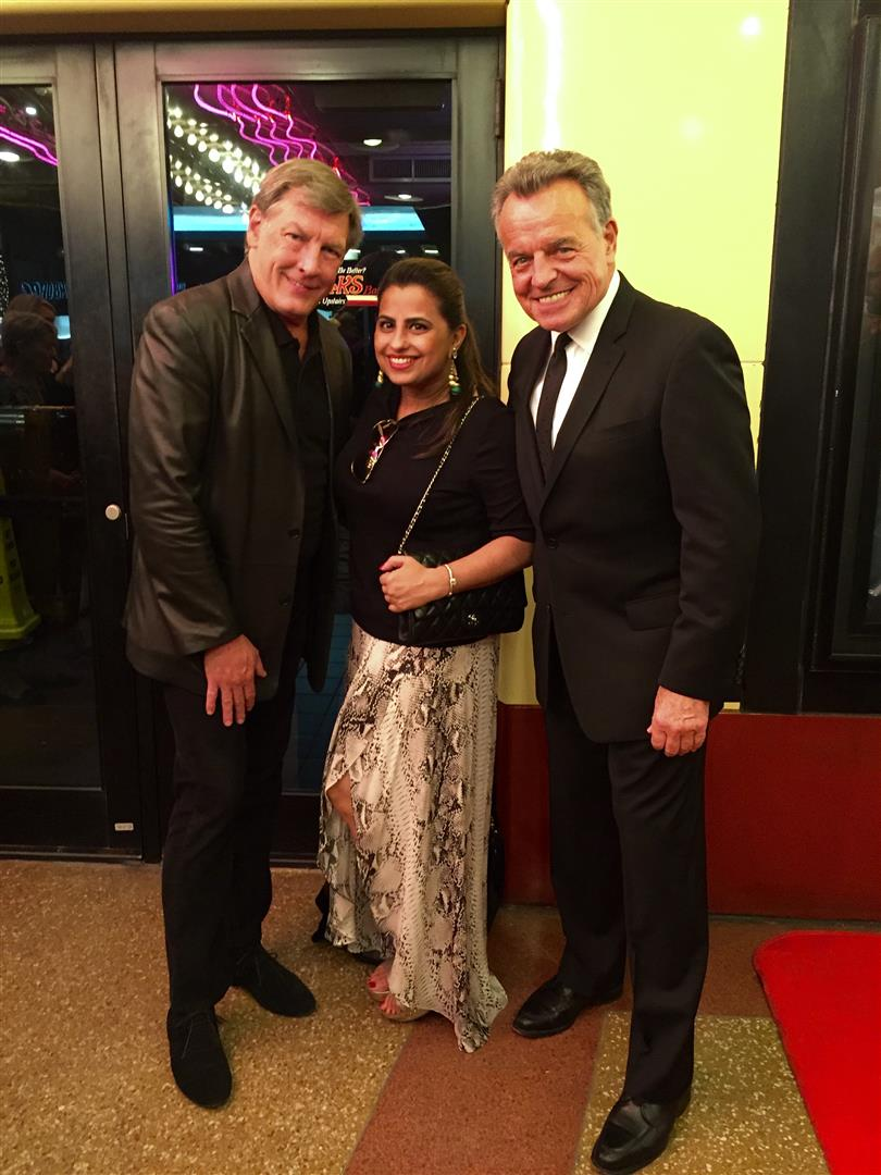 Neal Hamil, Ruchi Mukherjee and Ray Wise