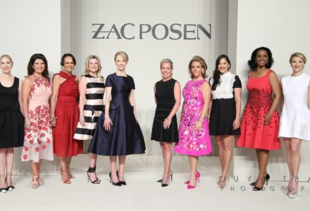 A Fashionable Crowd Cheer for Houston's Best Dressed Ladies