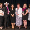 Honorees Laura Ward, Lt. Wende Wakeman, Crime Stoppers Executive Director Rania Mankarious, Wells Fargo Susan Holcomb, Houston Livestock Show and Rodeo Jennifer Hazelton, Michelle Heinz