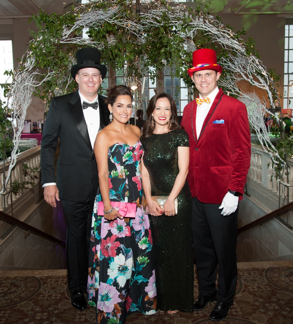 Gala Co-Chairs Truett and Elva Akin and Monica and Greg Meeks