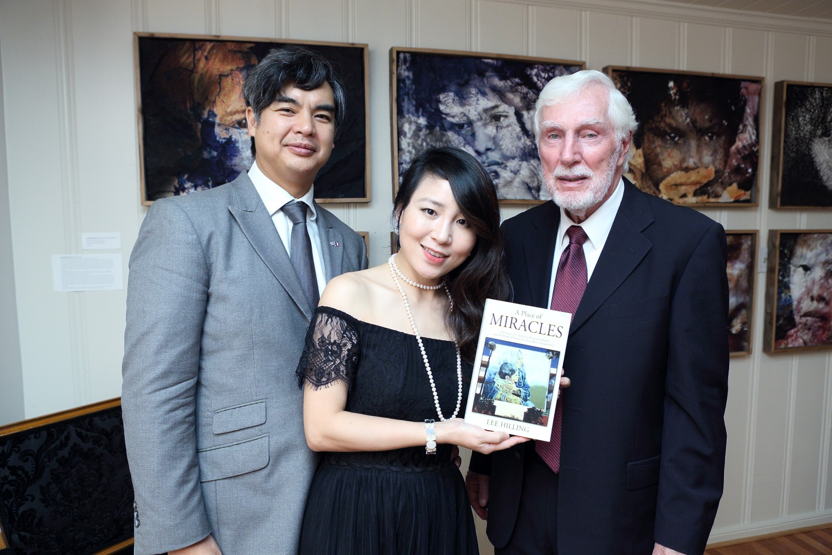 Consul Gen of France Sujiro Seam, wife Jane and Author Lee Hilling