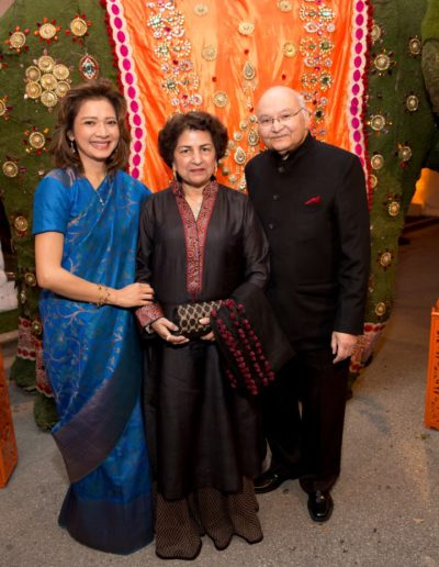 Bonna Kol (Asia Society Texas Center President), Nalini and Dr. Virendra Mathur (Gala Honorary Co-Chairs)