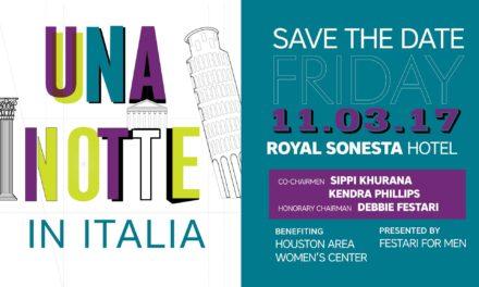 """Festari for Men """"Una Notte in Italia"""" for the Houston Area Women's Center"""