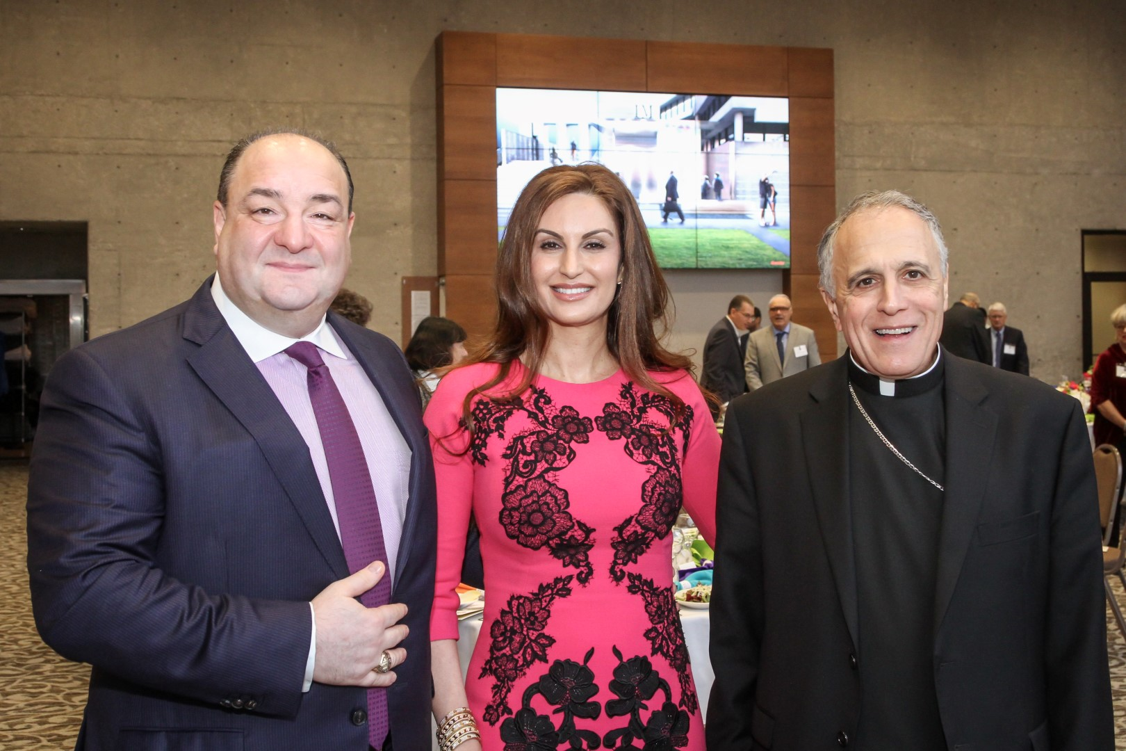 (left to right) Bashar and Brigitte Kalai, Cardinal Daniel DiNardo