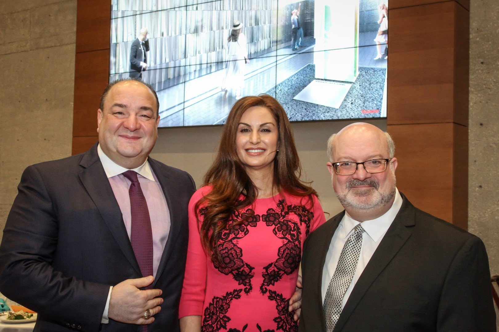 (left to right) Bashar and Brigitte Kalai, IM CEO Martin Cominsky